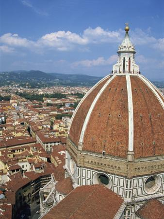 Dome of the Cathedral with the Skyline of Florence, UNESCO World Heritage Site, Tuscany, Italy