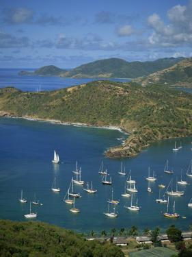 English Harbour, with Moored Yachts, Antigua, Leeward Islands, West Indies, Caribbean by Lightfoot Jeremy