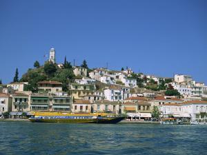 Hydrofoil in Poros Harbour, Poros, Saronic Islands, Greek Islands, Greece, Europe by Lightfoot Jeremy