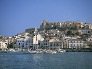 Ibiza Town Skyline and Harbour, Ibiza, Balearic Islands, Spain, Mediterranean, Europe by Lightfoot Jeremy