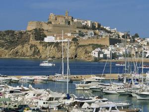 Ibiza Town Skyline and Marina, Ibiza, Balearic Islands, Spain, Mediterranean, Europe by Lightfoot Jeremy