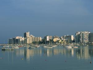 Skyline and Marina, San Antonio Bay, Ibiza, Balearic Islands, Spain, Mediterranean, Europe by Lightfoot Jeremy