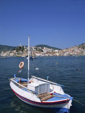 Small Boat in Harbour on Poros, Saronic Islands, Greek Islands, Greece, Europe by Lightfoot Jeremy