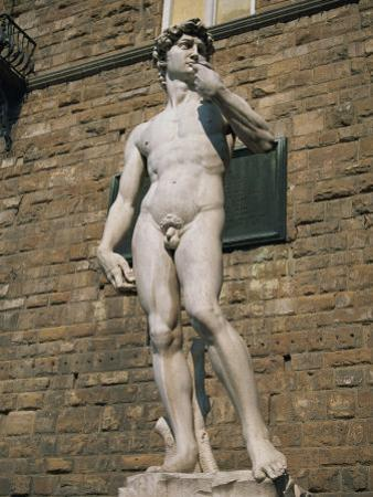 Statue of David by Michelangelo in the Piazza Della Signoria in Florence, Tuscany, Italy