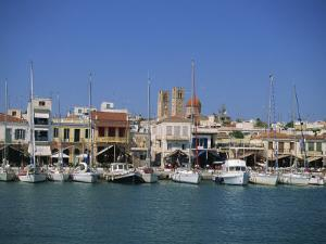 Yachts Moored in Harbour, Aegina Town, Aegina, Saronic Islands, Greek Islands, Greece, Europe by Lightfoot Jeremy