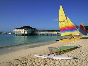 Yellow Boat, Pebble Beach, Barbados, West Indies, Caribbean, Central America by Lightfoot Jeremy