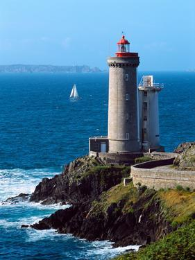 Lighthouse at the Coast, Phare Du Petit Minou, Goulet De Brest, Finistere, Brittany, France