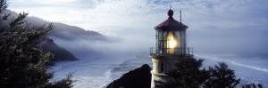 Lighthouse on a Hill, Heceta Head Lighthouse, Heceta Head, Lane County, Oregon, USA