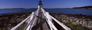 Lighthouse on Coast, Marshall Point Lighthouse, Built 1832, Rebuilt 1858, Port Clyde, Maine, USA