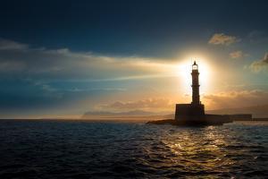Lighthouse on Sunset.