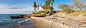 Lighthouse on the Coast, Point Betsie Lighthouse, Lake Michigan, Benzie County, Frankfort