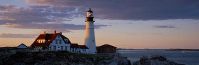 Lighthouse on the coast, Portland Head Light, Cape Elizabeth, Cumberland County, Maine, USA