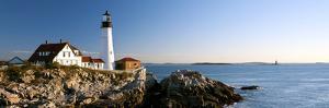 Lighthouse on the Coast, Portland Head Lighthouse, Ram Island Ledge Light, Portland