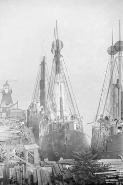 Lightships Docked at Tomkinsville, Staten Island New York