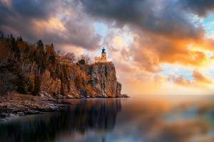 A Cloudy Day at Split Rock Lighthouse by Like He