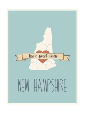 New-Hampshire State Map, Home Sweet Home by Lila Fe