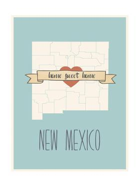 New-Mexico State Map, Home Sweet Home by Lila Fe