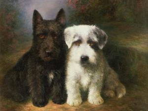 Scottish and a Sealyham Terrier by Lilian Cheviot
