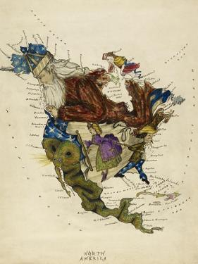 Map Showing North America As a Collection Of Fairy Tale Characters. by Lilian Lancaster