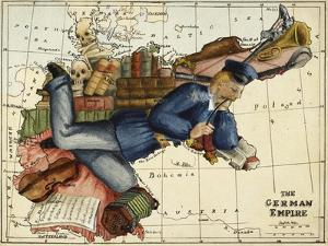 Shows the German Empire As a Young Man Lounging Across Europe. by Lilian Lancaster