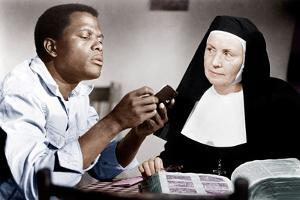 LILIES OF THE FIELD, from left: Sidney Poitier, Lilia Skala, 1963
