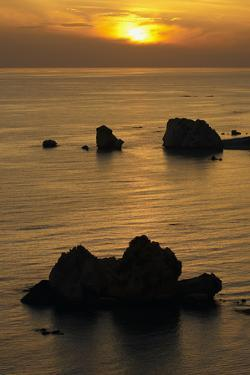 Petra Tou Romiou (Aphrodite's Rock) at Sunset, Pissouri Bay, Near Paphos, Cyprus, March 2009 by Lilja