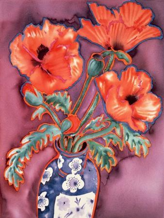 Poppies in Chinese Vase