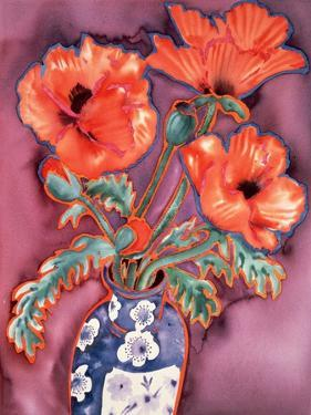 Poppies in Chinese Vase by Lillian Delevoryas