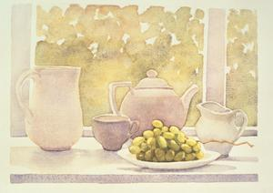 Still Life with Grapes by Lillian Delevoryas