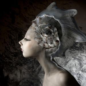 Mermaid Girl In An Unusual Headgear, A Hat by Lilun