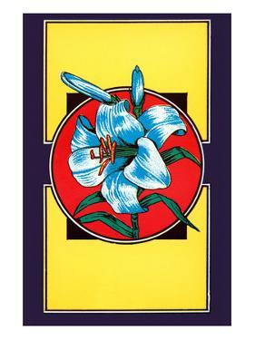 Lily Flower Broom Label