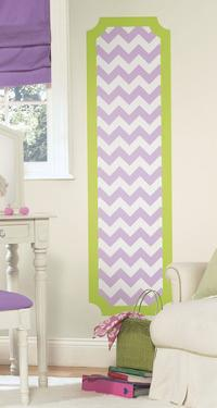 Lime and Lilac Chevron Peel and Stick Deco Panel