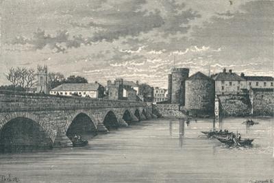 Limerick - Thomond Bridge and King Johns Castle, 1896