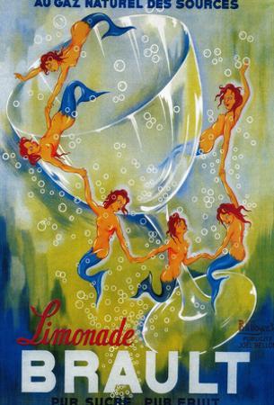 Limonade Brault Vintage Poster - Europe