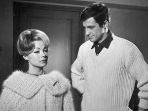 Jean-Paul Belmondo and Dany Robin: La Française et L'Amour, 1960 by Limot