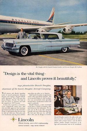 Lincoln 1959 Douglas: Design