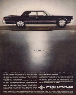 Lincoln 1962 - the Look