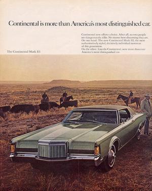 Lincoln 1969 Contntl. Mark III