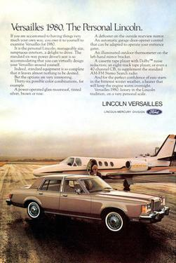 Lincoln 1980 Versailles