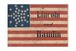 Lincoln and Hamlin Campaign Banner