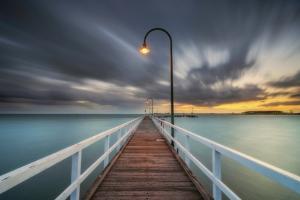 Lagoon Pier 2 by Lincoln Harrison