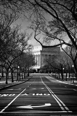 Lincoln Memorial Washington DC Plastic Sign