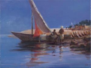 Boat Yard, Kilifi, 2012 by Lincoln Seligman