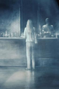 Girl in a Bar, 1995 by Lincoln Seligman