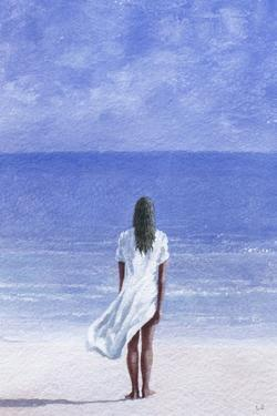 Girl on Beach, 1995 by Lincoln Seligman
