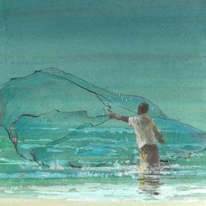 Lone Fisherman 3, 2015 by Lincoln Seligman