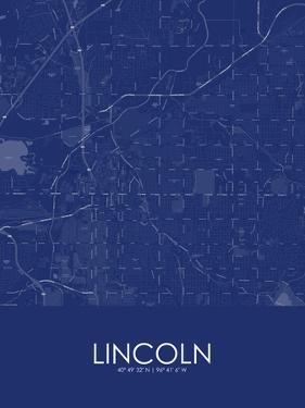 Lincoln, United States of America Blue Map