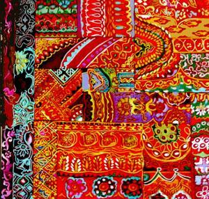 Indian Embroidey by Linda Arthurs
