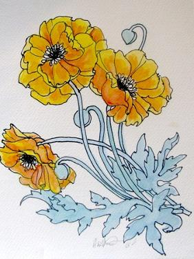 POPPIES watercolour by Linda Arthurs