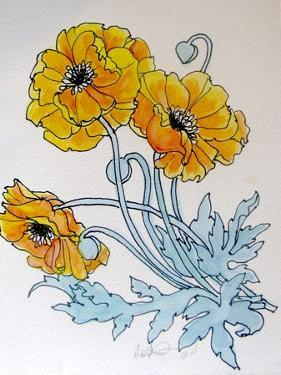 POPPIES watercolour by Linda Arthurs